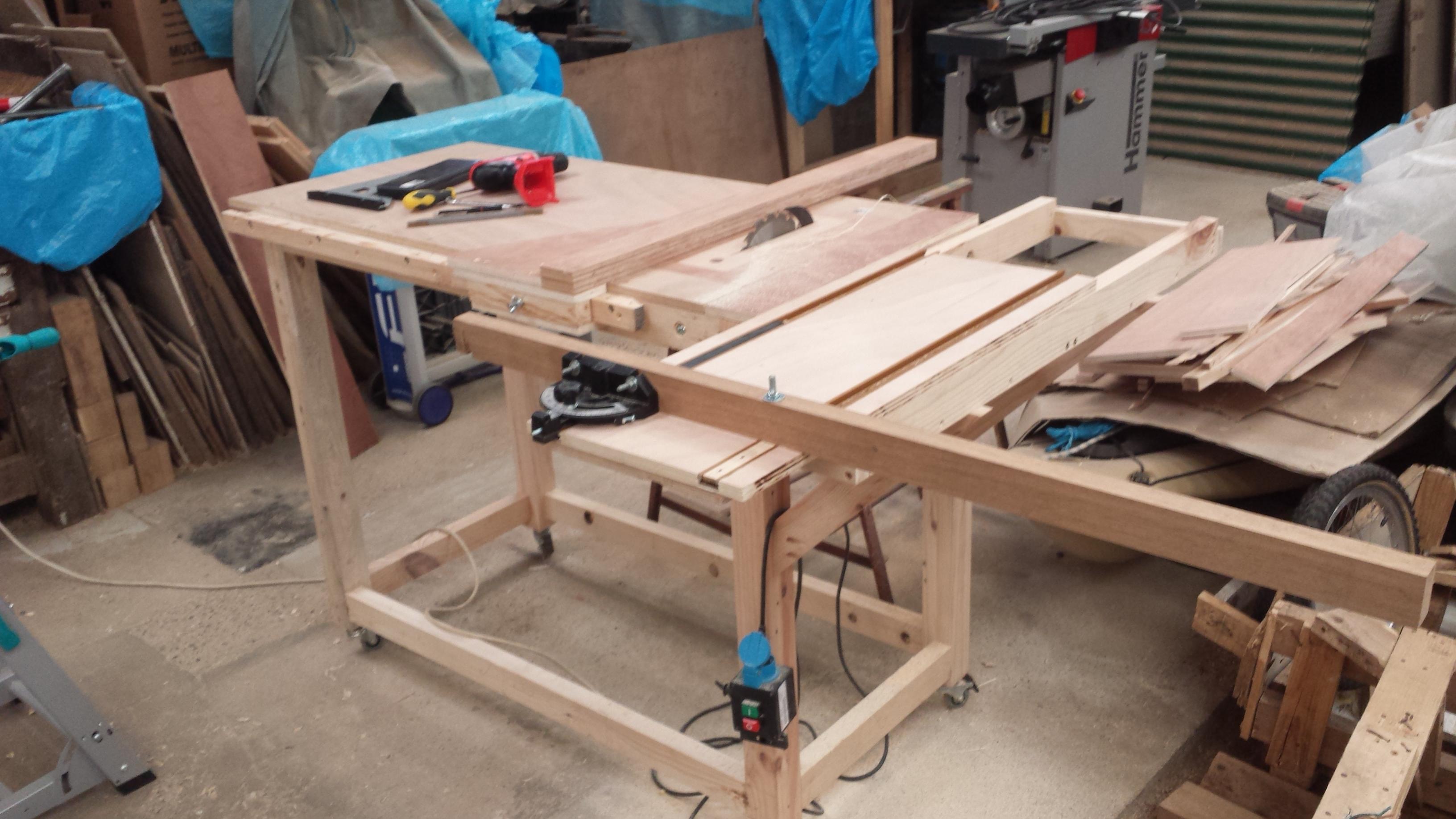 Table Coulissante Sous Plan De Travail un chariot coulissant pour la table à format (première