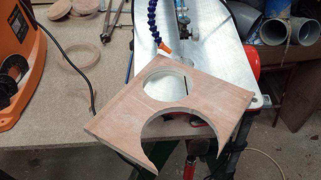 Photo de la découpe de la seconde partie de la buse.